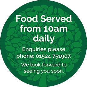 Food served from 10am daily